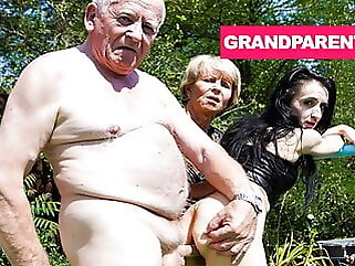 Rejuvenating Grandpa's Worn Out Cock with Granny fingering blowjob