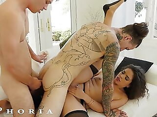 BiPhoria - Wife Catches Husband With Male Lover blowjob anal