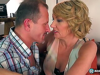 Amy and George milf blowjob