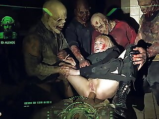 HORRORPORN Zombie blowjob anal