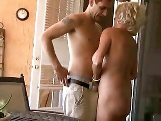 ROLEPLAY - Auntie Fucks Her Nephew While Smoking a Cigarette hardcore blonde