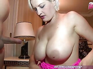 German blond amateur hooker with big tits in an amateur brothel blonde amateur
