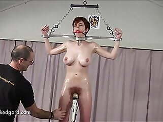 Hairy Bush Redhead On Fuck Pole And Spanked redhead bdsm
