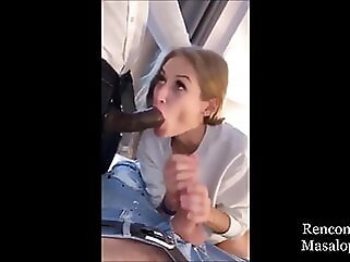 Business Hot Wife has Threesome Fun in the Hotel blowjob blonde