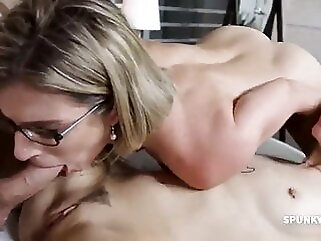 ROLEPLAY – Stepson Fucks His Mom and His Girlfriend mature hardcore