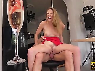 PASCALSSUBSLUTS - Lady Ashley Lane dominated in the kitchen blowjob blonde