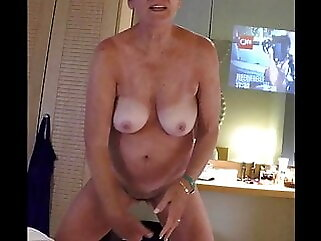 71 yr old GILF Anita, Greek vacation fingering amateur