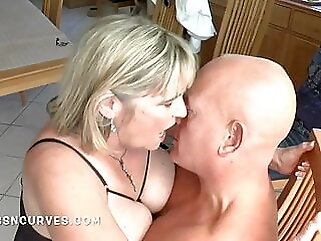 Tied up and watching a stranger fuck his big tits wife tits bbw