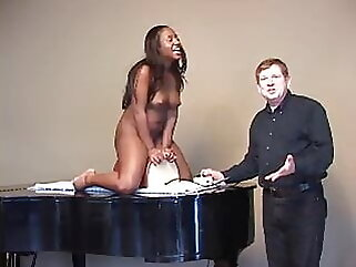 Ebony Stripper Gets Creamy Pussy After Sybian Ride interracial amateur