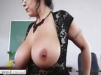 Cougar teacher is hot for me tits brunette