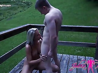 Young cock outdoor AO fucked ! mature blowjob