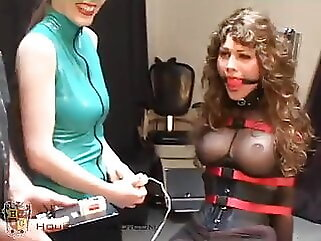 Brunette Doesn't Want to Get Off of the Fuck Chair fucking machine bdsm