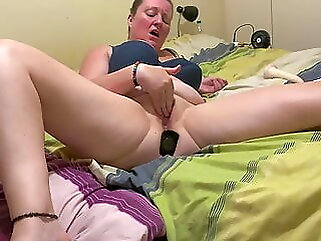 hot and horny home alone housemate masturbating in a heat wave brunette amateur