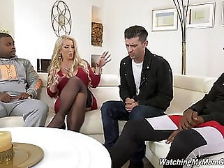 Alura Jenson fucks BBC in front of Stepson blonde anal
