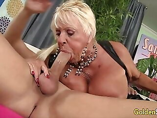 Golden Slut - Older Lady Blowjob Compilation Part 21 blowjob blonde